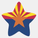 Bandera de Arizona Colcomanias Forma De Estrella
