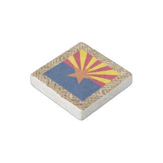 Bandera de Arizona en la materia textil temática Imán De Piedra