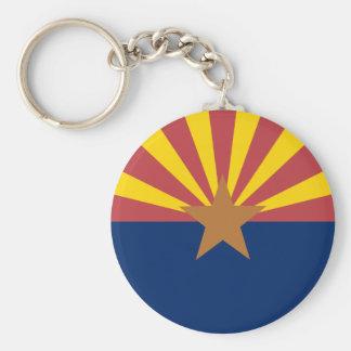 Bandera de Arizona Llavero Redondo Tipo Pin