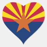 Bandera de Arizona Pegatina De Corazón Personalizadas