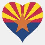 Bandera de Arizona Pegatina Corazón