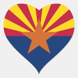 Bandera de Arizona Pegatina En Forma De Corazón