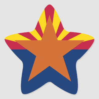 Bandera de Arizona Pegatina En Forma De Estrella