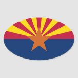 Bandera de Arizona Pegatina Ovalada
