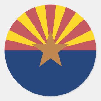 Bandera de Arizona Pegatina Redonda