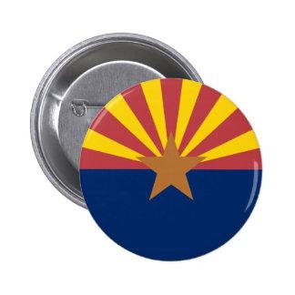 Bandera de Arizona Pin Redondo De 2 Pulgadas