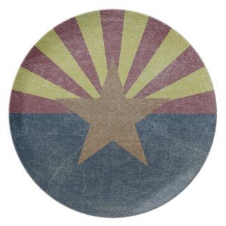 Bandera de Arizona Plato De Comida
