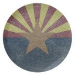 Bandera de Arizona Plato Para Fiesta