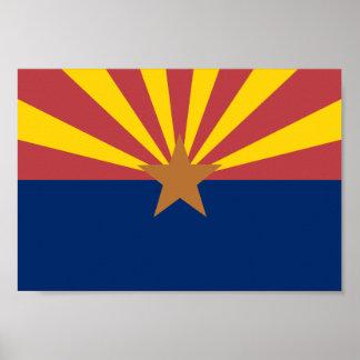 Bandera de Arizona Póster
