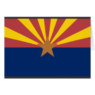 Bandera de Arizona Tarjeta De Felicitación