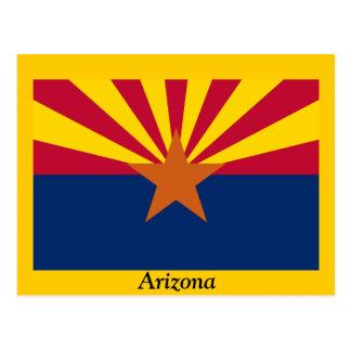 Bandera de Arizona Tarjeta Postal