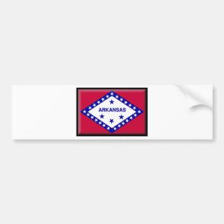 Bandera de Arkansas Etiqueta De Parachoque