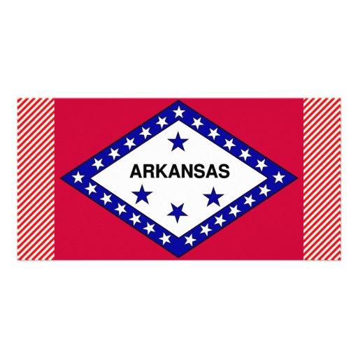 Bandera de Arkansas Tarjetas Personales Con Fotos