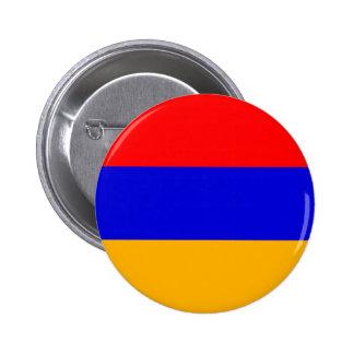 Bandera de Armenia; Armenio Pin Redondo De 2 Pulgadas