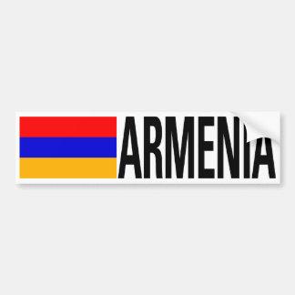Bandera de Armenia Etiqueta De Parachoque
