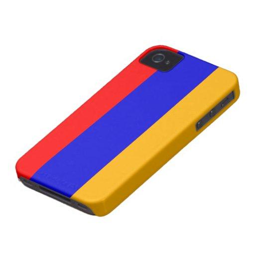 Bandera de Armenia iPhone 4 Case-Mate Protectores