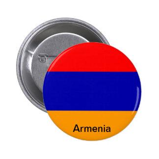 Bandera de Armenia Pin Redondo De 2 Pulgadas