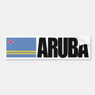 Bandera de Aruba Pegatina De Parachoque