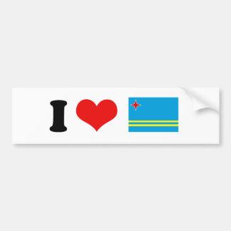 Bandera de Aruba Pegatina Para Auto