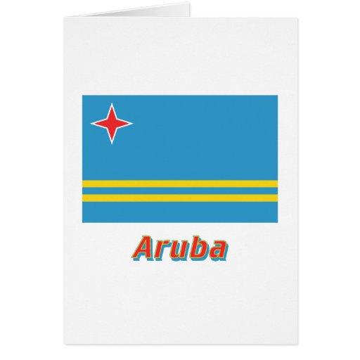 Bandera de Aruba con nombre Felicitacion
