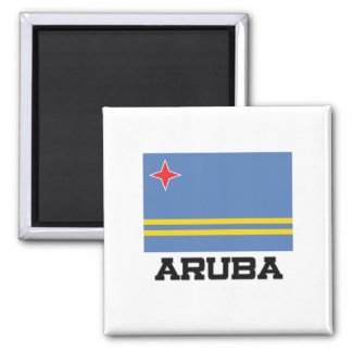 Bandera de Aruba Imán Cuadrado