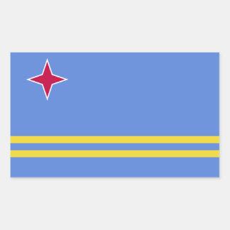 Bandera de Aruba Pegatina Rectangular