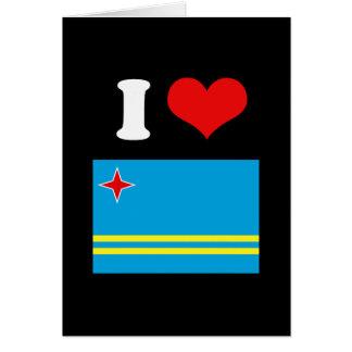 Bandera de Aruba Tarjeta