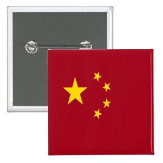 Bandera de Asia del chino de China Pin Cuadrado