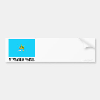 Bandera de Astrakhan Oblast Pegatina Para Auto