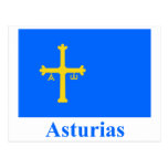 Bandera de Asturias con nombre Postales