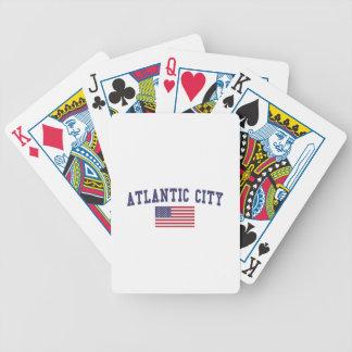 Bandera de Atlantic City los E.E.U.U. Baraja Cartas De Poker