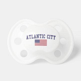 Bandera de Atlantic City los E.E.U.U. Chupetes Para Bebés