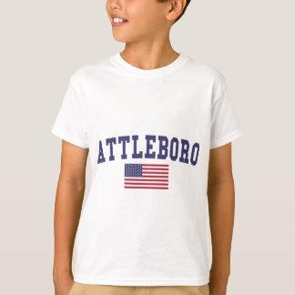 Bandera de Attleboro los E.E.U.U. Poleras