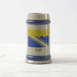 Bandera de Aube con nombre Jarra De Cerveza