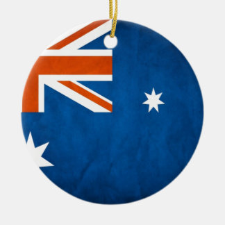 Bandera de Australia Adorno Navideño Redondo De Cerámica
