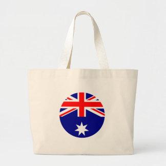 Bandera de Australia - circunde el MUSEO Zazzle Bolsa Tela Grande