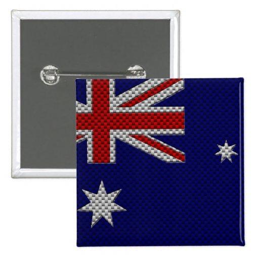 Bandera de Australia con efecto de la fibra de car Pins