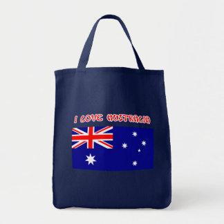 Bandera de AUSTRALIA del AMOR del bolso I Bolsa De Mano