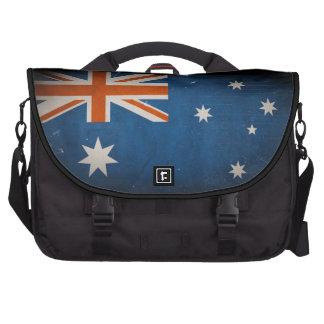 Bandera de Australia del Grunge del vintage Bolsas De Portátil