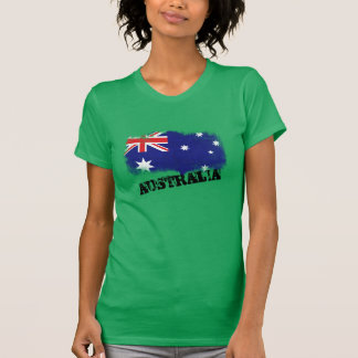 Bandera de Australia del Grunge T-shirt