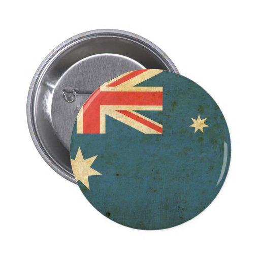 Bandera de Australia del vintage Pin Redondo De 2 Pulgadas