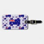 Bandera de Australia en capas coloridas múltiples Etiquetas De Equipaje