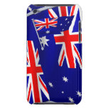 Bandera de Australia en el viento iPod Touch Case-Mate Cobertura