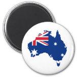 Bandera de Australia en la forma de Australia Iman Para Frigorífico
