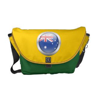 Bandera de Australia en orbe Bolsa De Mensajeria