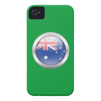 Bandera de Australia en orbe iPhone 4 Funda