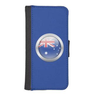 Bandera de Australia en orbe Cartera Para Teléfono