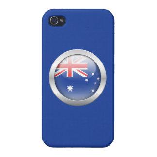 Bandera de Australia en orbe iPhone 4/4S Carcasa