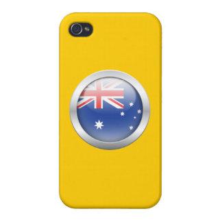 Bandera de Australia en orbe iPhone 4/4S Fundas