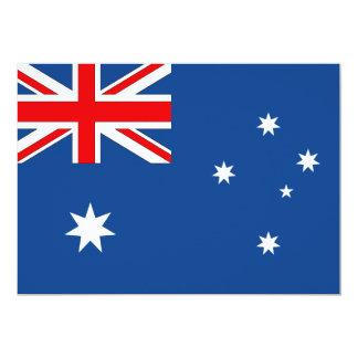 """Bandera de Australia Invitación 5"""" X 7"""""""